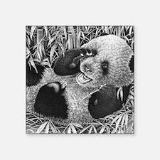 "Giant Panda Cub (Mens Walle Square Sticker 3"" x 3"""