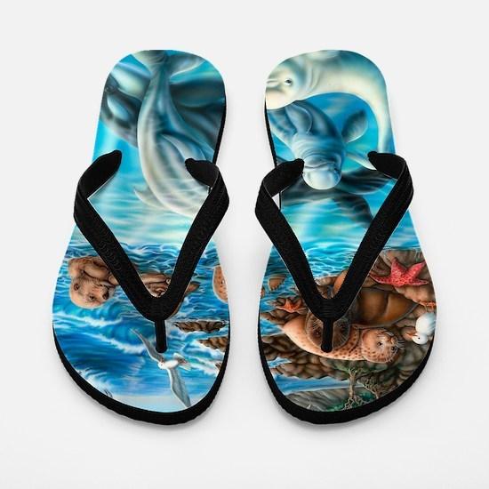 Sea_Life_23x35 Flip Flops