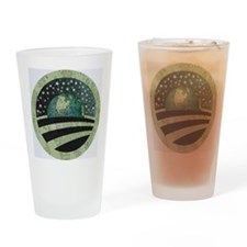 Obama Earth Logo Drinking Glass