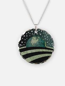 Obama Earth Logo Necklace