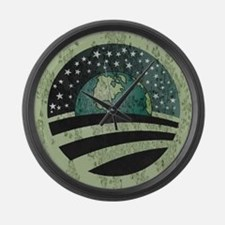 Obama Earth Logo Large Wall Clock