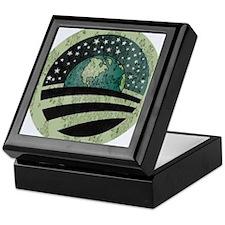 Obama Earth Logo Keepsake Box