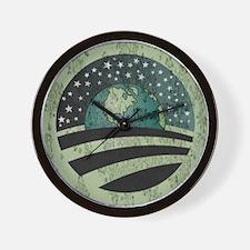 Obama Earth Logo Wall Clock