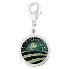 Obama Earth Logo Silver Round Charm