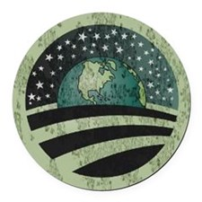 Obama Earth Logo Round Car Magnet