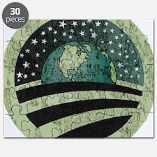 Obama Earth Logo Puzzle
