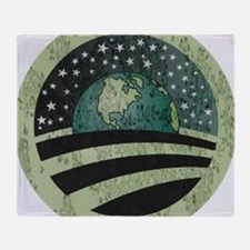 Obama Earth Logo Throw Blanket