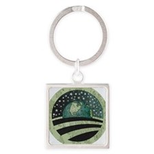 Obama Earth Logo Square Keychain