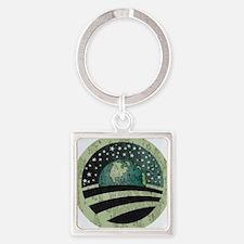 Obama Earth Logo Square Keychain