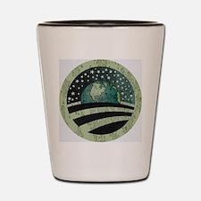 Obama Earth Logo Shot Glass