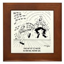 6428_carpenter_cartoon Framed Tile