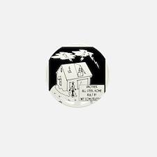 6168_building_cartoon Mini Button