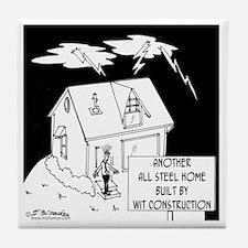 6168_building_cartoon Tile Coaster