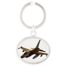 F16png2 Oval Keychain