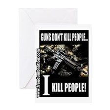 GunsDontKillPeople Greeting Card