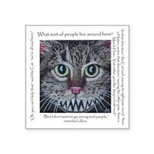 "cheshire cat for shirt Square Sticker 3"" x 3"""