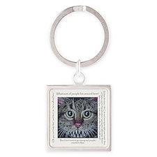 cheshire cat for shirt Square Keychain