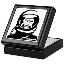 Monkey and small urlPOSTERBlack Keepsake Box