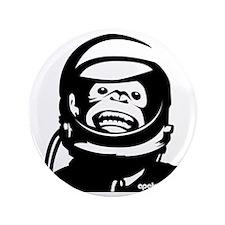 "Monkey and small urlPOSTERBlack 3.5"" Button"