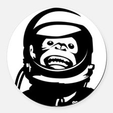 Monkey and small urlPOSTERBlack Round Car Magnet