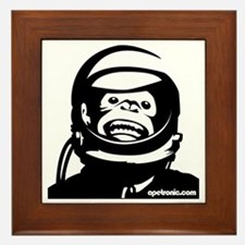 Monkey and small urlPOSTERBlack Framed Tile