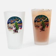 XmasMagic-AussieShep1 Drinking Glass