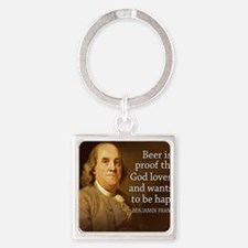 Ben Quote Beer Square Keychain