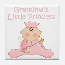 grandmas little princess Tile Coaster