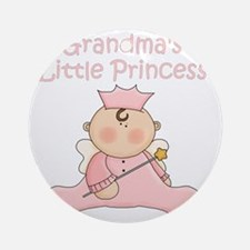 grandmas little princess Round Ornament