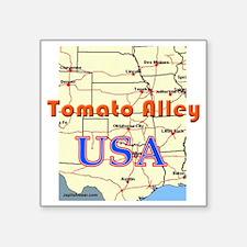"""tomato_alley_USA_map Square Sticker 3"""" x 3"""""""