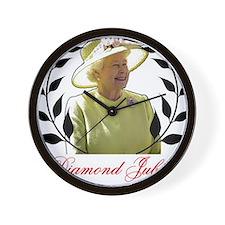 Queens Diamond Jubilee 60 Years Wall Clock