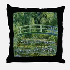 MonetJapaneseBridge1 Throw Pillow
