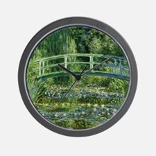 MonetJapaneseBridge1 Wall Clock