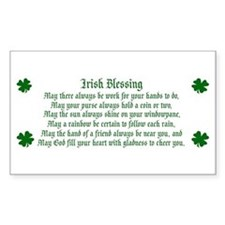 Irish Blessing Rectangle Decal