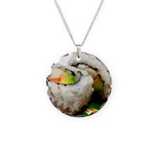 sushi Necklace Circle Charm