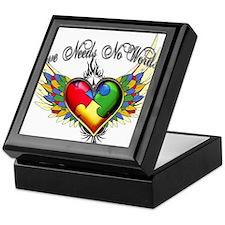 autism - Love Needs No Words Keepsake Box