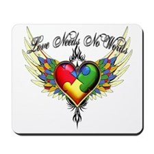 autism - Love Needs No Words Mousepad
