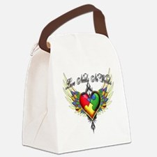 autism - Love Needs No Words Canvas Lunch Bag