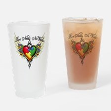 autism - Love Needs No Words Drinking Glass
