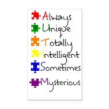 Autism Means Rectangle Car Magnet