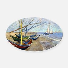 Coin VG Boats Oval Car Magnet