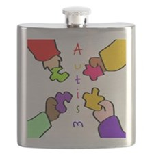 Autism Pieces Flask