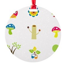 Owls, Trees and Mushrooms Ornament