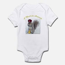 Grey Squirrel Infant Bodysuit