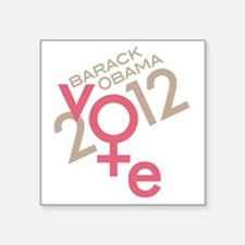 "Women Vote Obama Square Sticker 3"" x 3"""