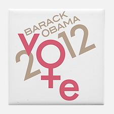 Women Vote Obama Tile Coaster
