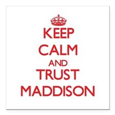 Keep Calm and TRUST Maddison Square Car Magnet 3""