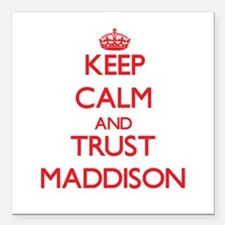 """Keep Calm and TRUST Maddison Square Car Magnet 3"""""""