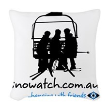 hanging_with_friends_v2_white Woven Throw Pillow