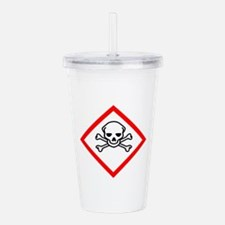 Toxic Substance Pictog Acrylic Double-wall Tumbler